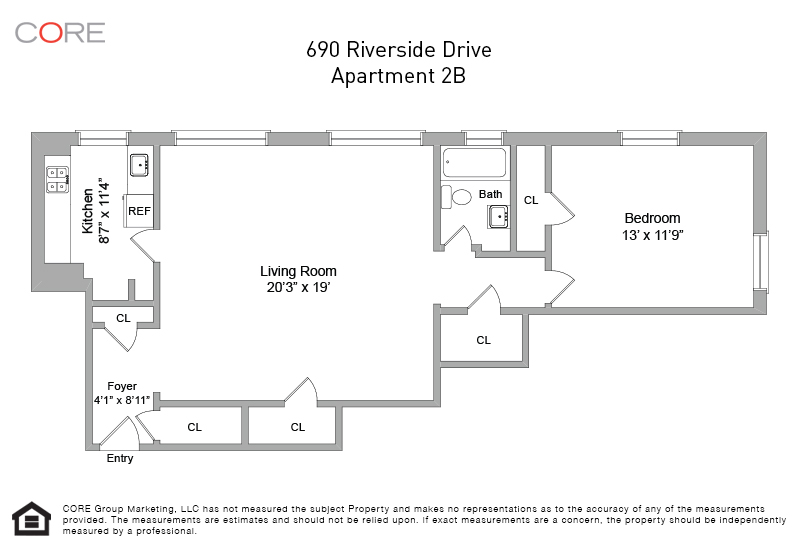 690 Riverside Dr. 2B, New York, NY 10031