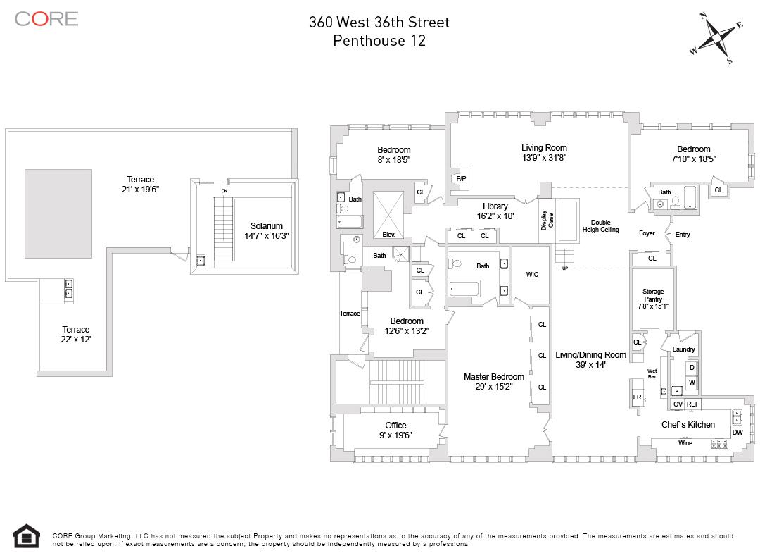 360 West 36th St. PH/12, New York, NY 10018