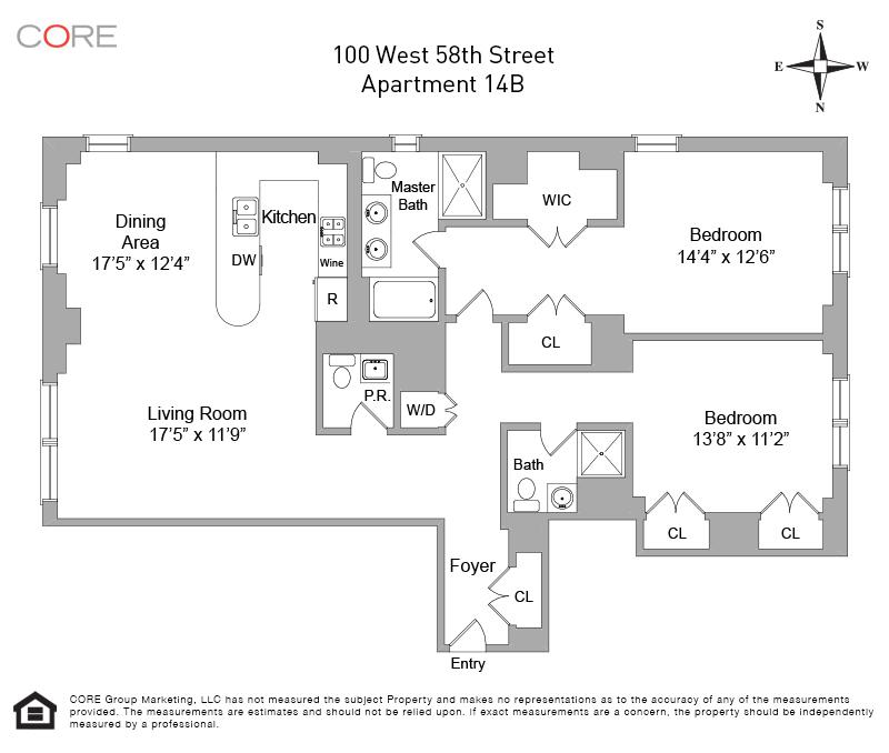 100 West 58th St. 14B, New York, NY 10019