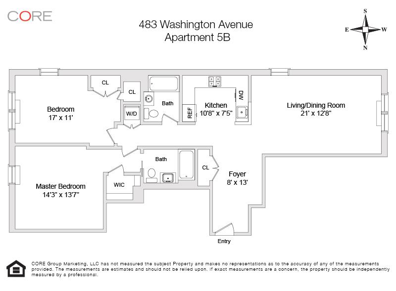 483 Washington Ave. 5B, Brooklyn, NY 11238