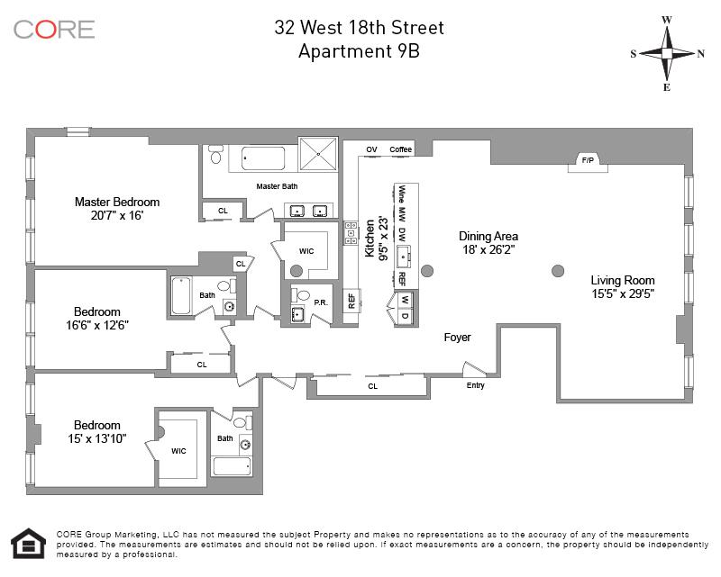 32 West 18th St. 9B, New York, NY 10011