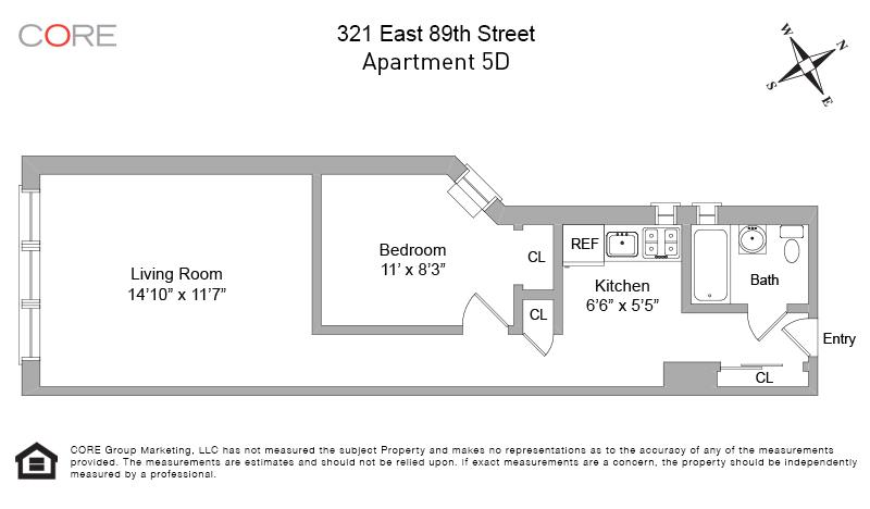 321 East 89th St. 5D, New York, NY 10128