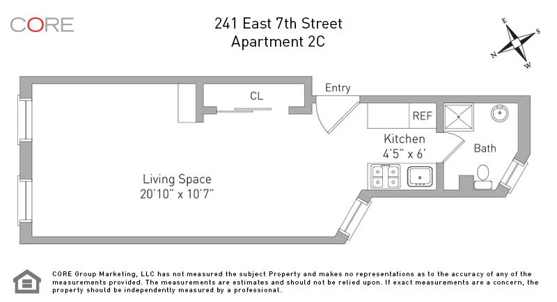 241 East 7th St. 2C, New York, NY 10009