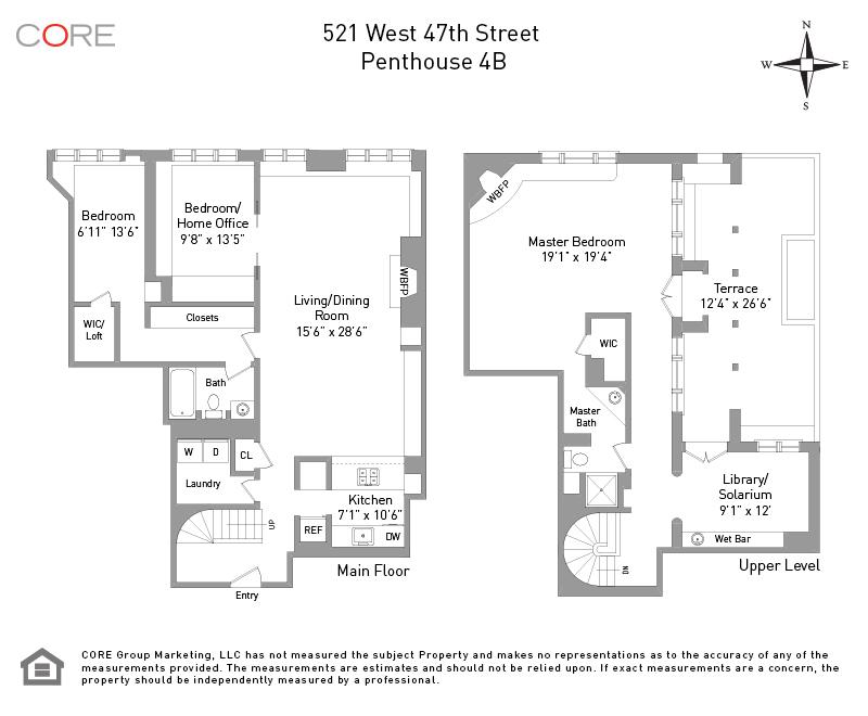 521 West 47th St. PH4B, New York, NY 10036