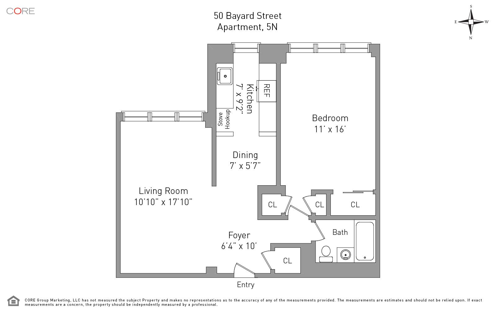 50 Bayard St. 5N, New York, NY 10013