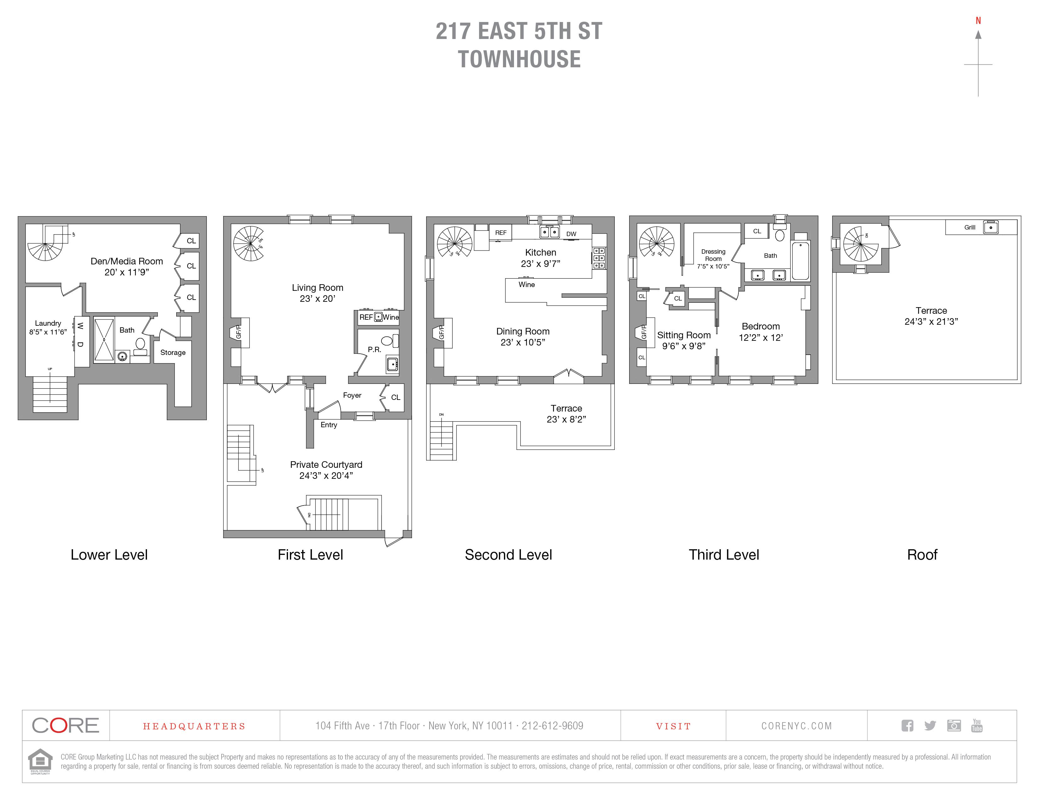 217 East 5th St. TH, New York, NY 10003