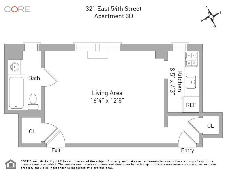 321 East 54th St. 3D, New York, NY 10022