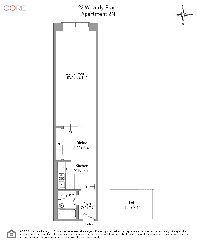 23 Waverly Place 2N, New York, NY 10003
