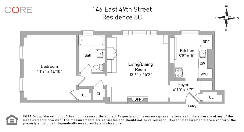 146 East 49th St. 8C, New York, NY 10017