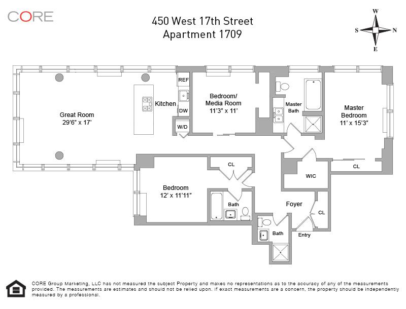 450 West 17th St. 1709, New York, NY 10011