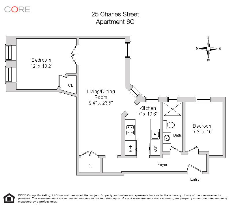 25 Charles St. 6C, New York, NY 10014