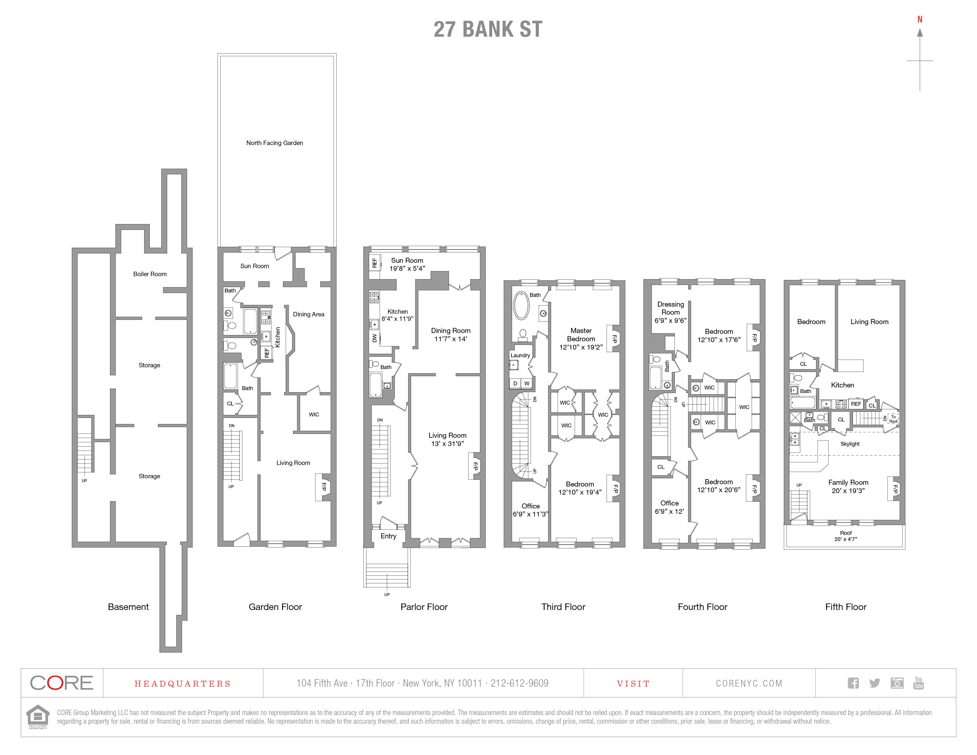 27 Bank St. TOWNHOUSE, New York, NY 10014
