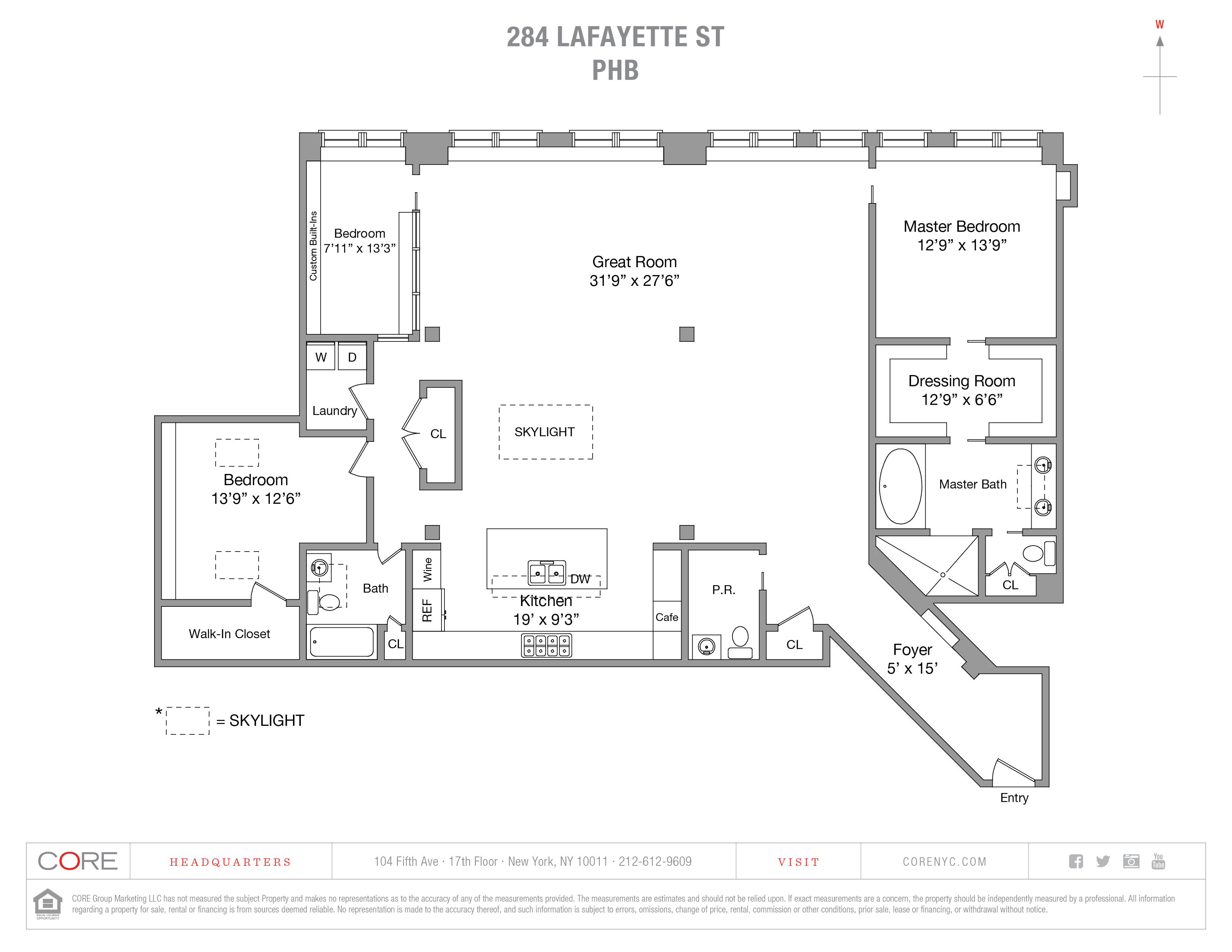 284 Lafayette St. PH-B, New York, NY 10012