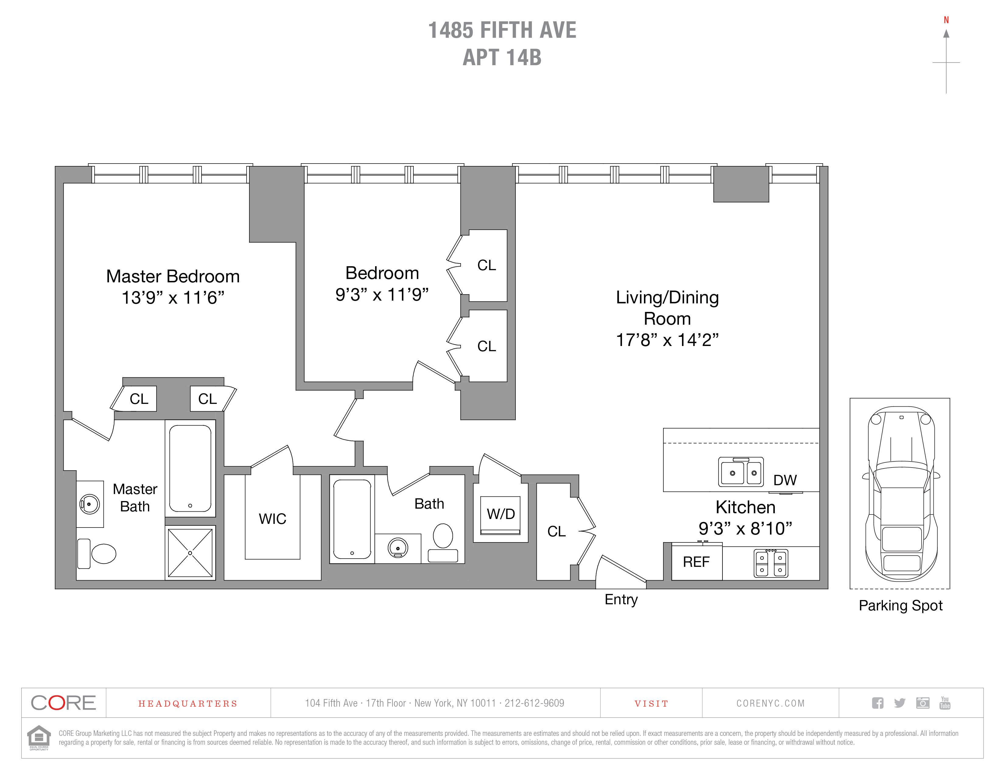 1485 Fifth Ave. 14BB, New York, NY 10035