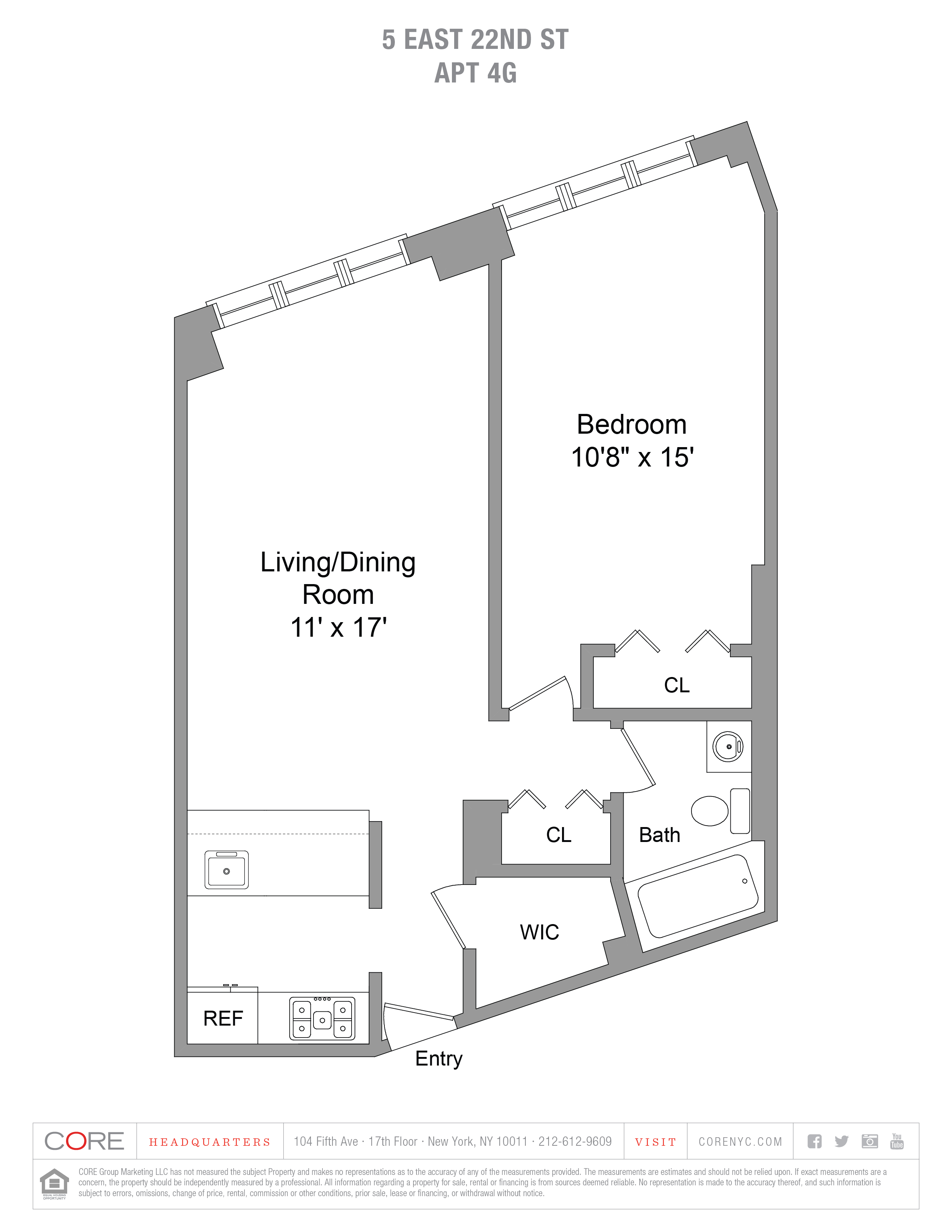 5 East 22nd St. 4G, New York, NY 10010
