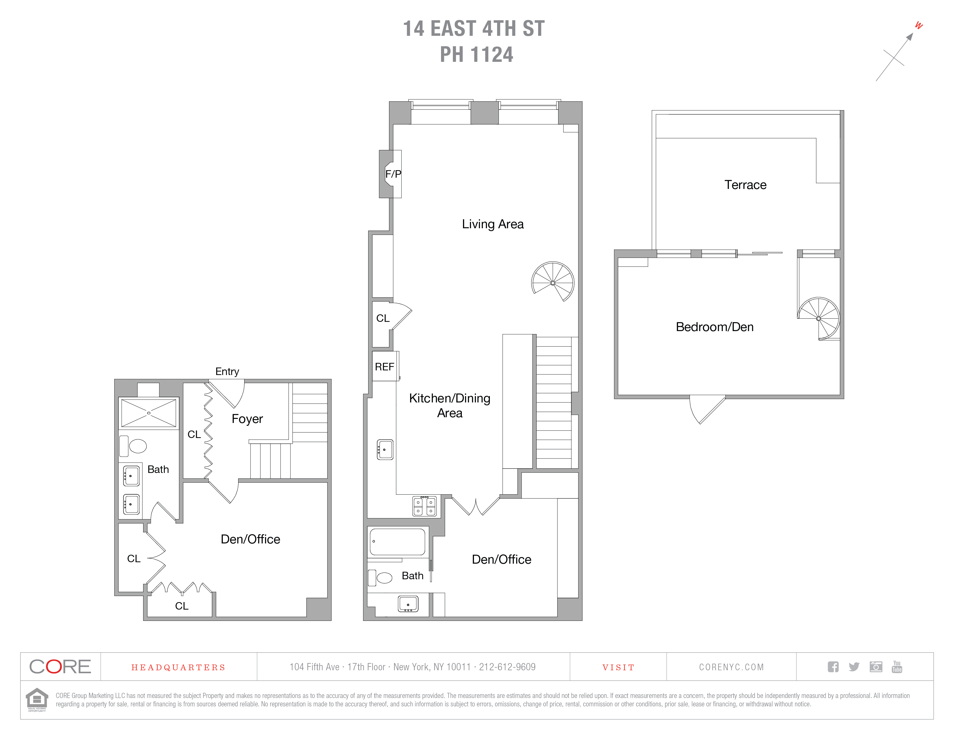 14 East 4th St. Penthouse 1124, New York, NY 10012