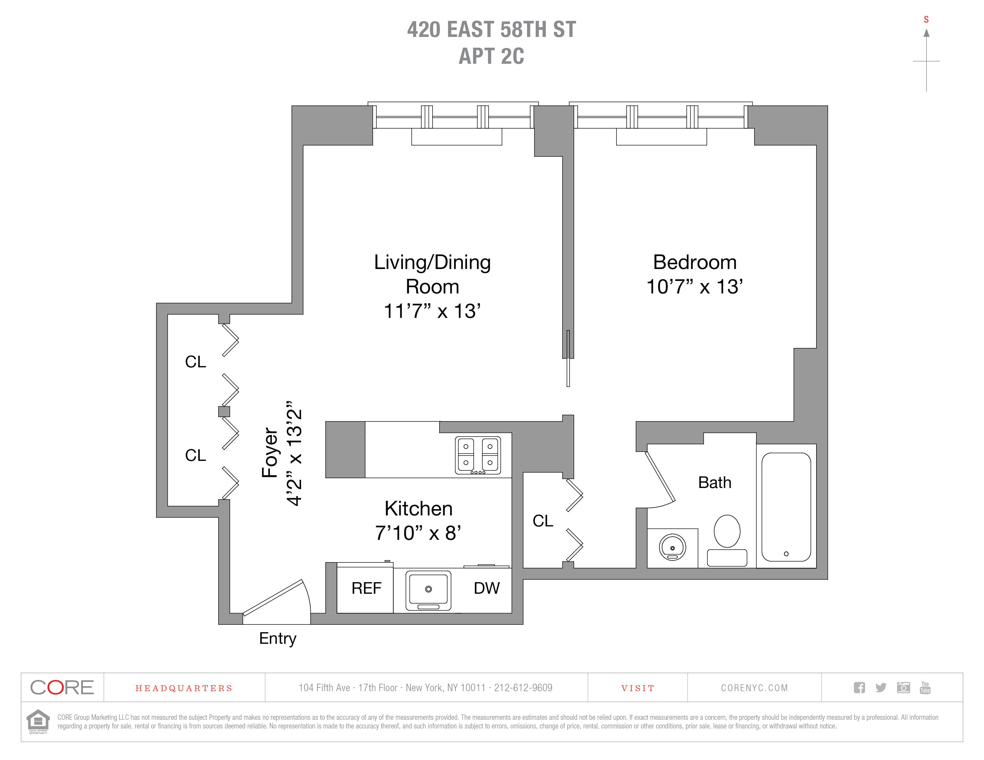 420 East 58th St. 2C, New York, NY 10022