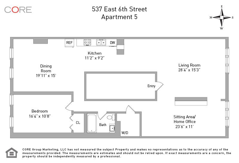 537 East 6th St. 5, New York, NY 10009