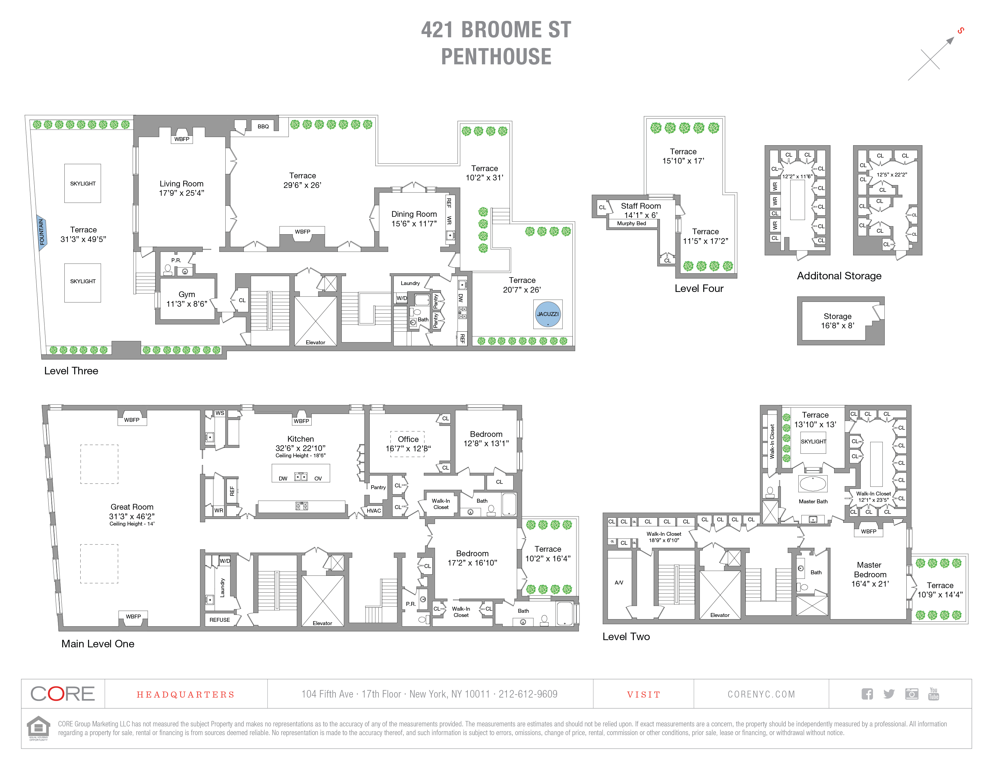 421 Broome St. PENTHOUSE, New York, NY 10013