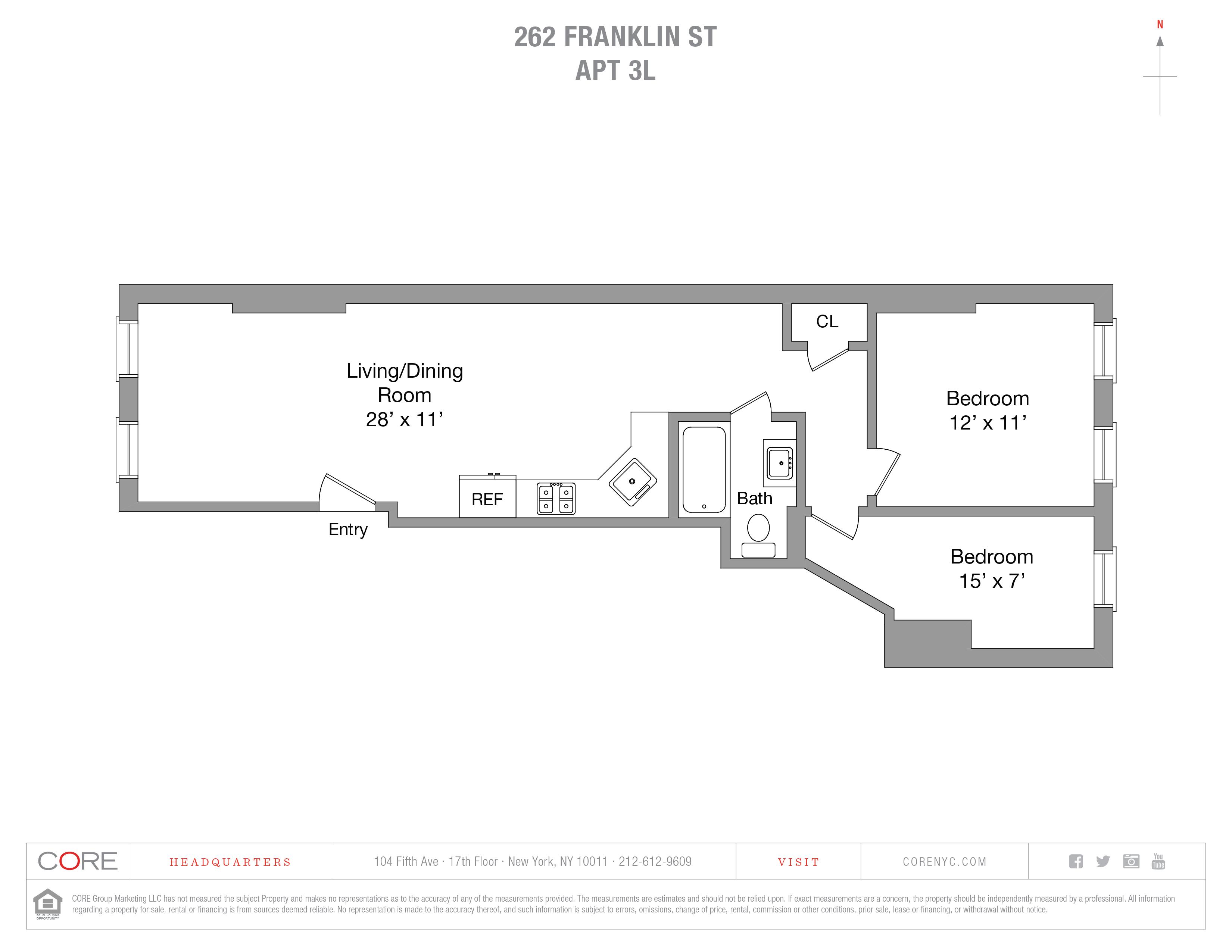262 Franklin St. 3L, Brooklyn, NY 11222