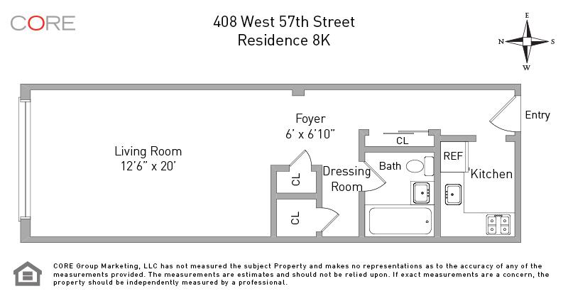 408 West 57th St. 8K, New York, NY 10019