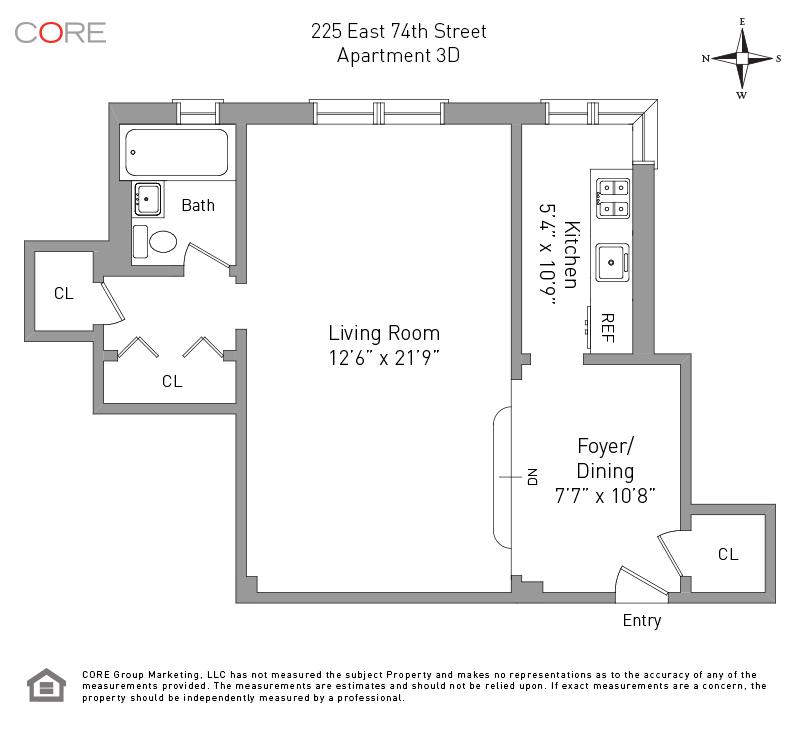 225 East 74th St. 3D, New York, NY 10021