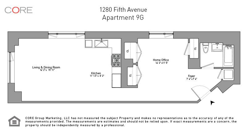 1280 Fifth Ave. 9G, New York, NY 10029