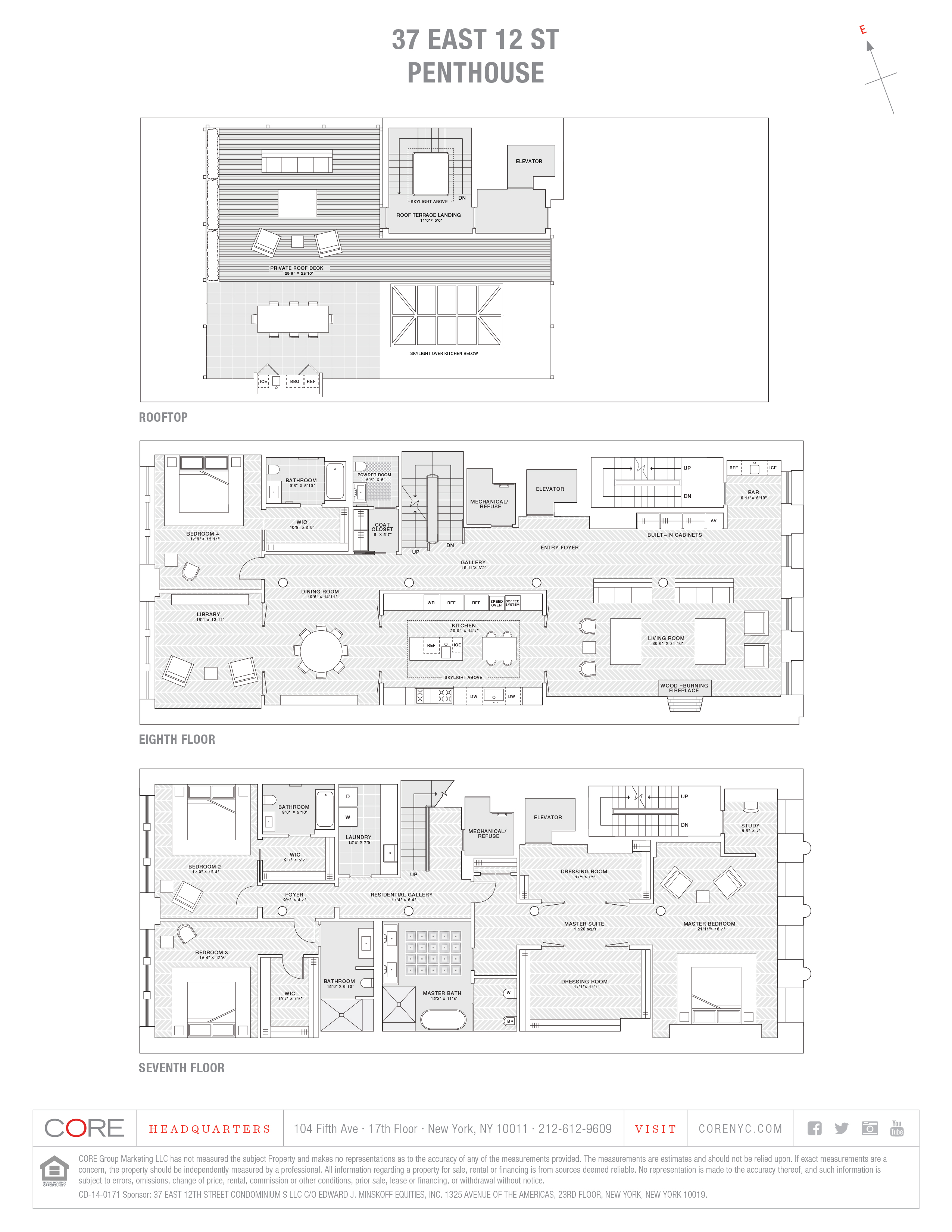 37 East 12th St. Penthouse, New York, NY 10003