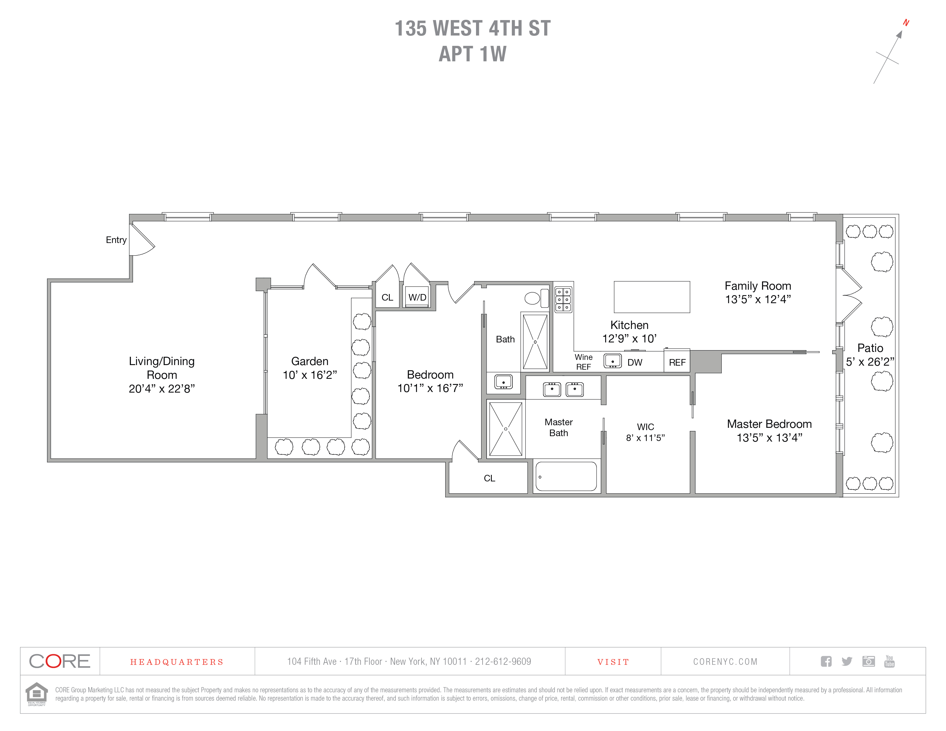 135 West 4th St. ONE WEST, New York, NY 10012