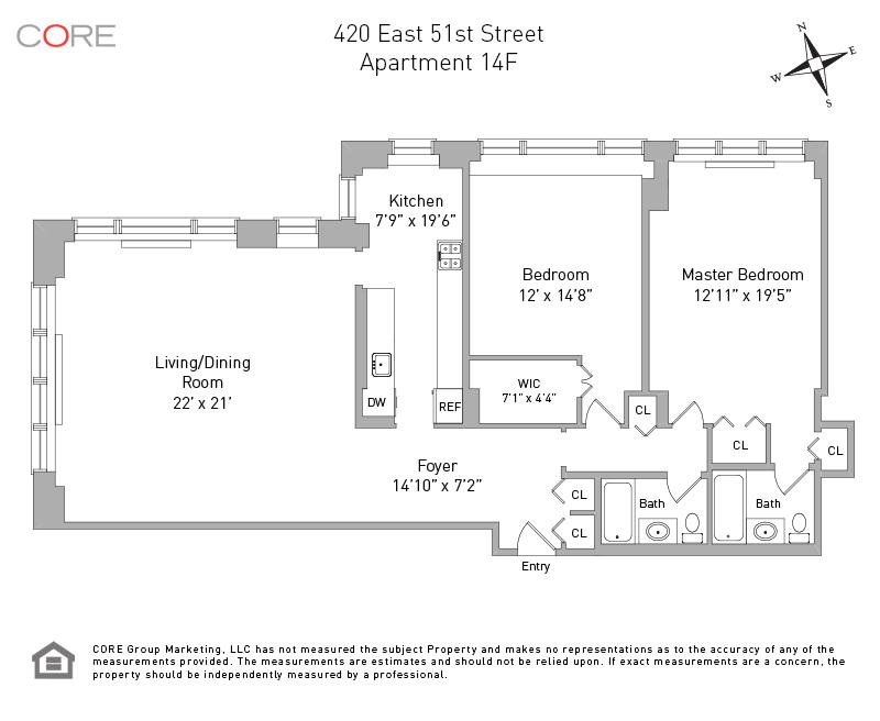 420 East 51st St. 14F, New York, NY 10022