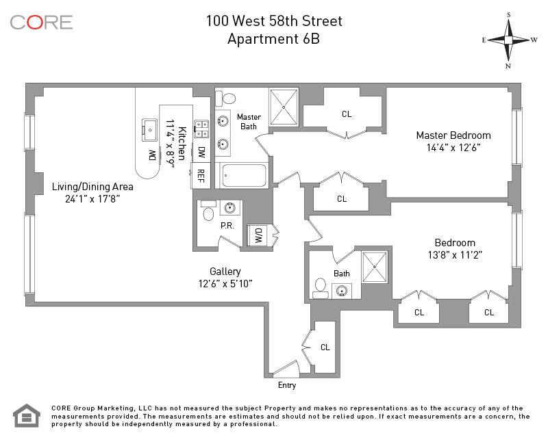 100 West 58th St. 6B, New York, NY 10019
