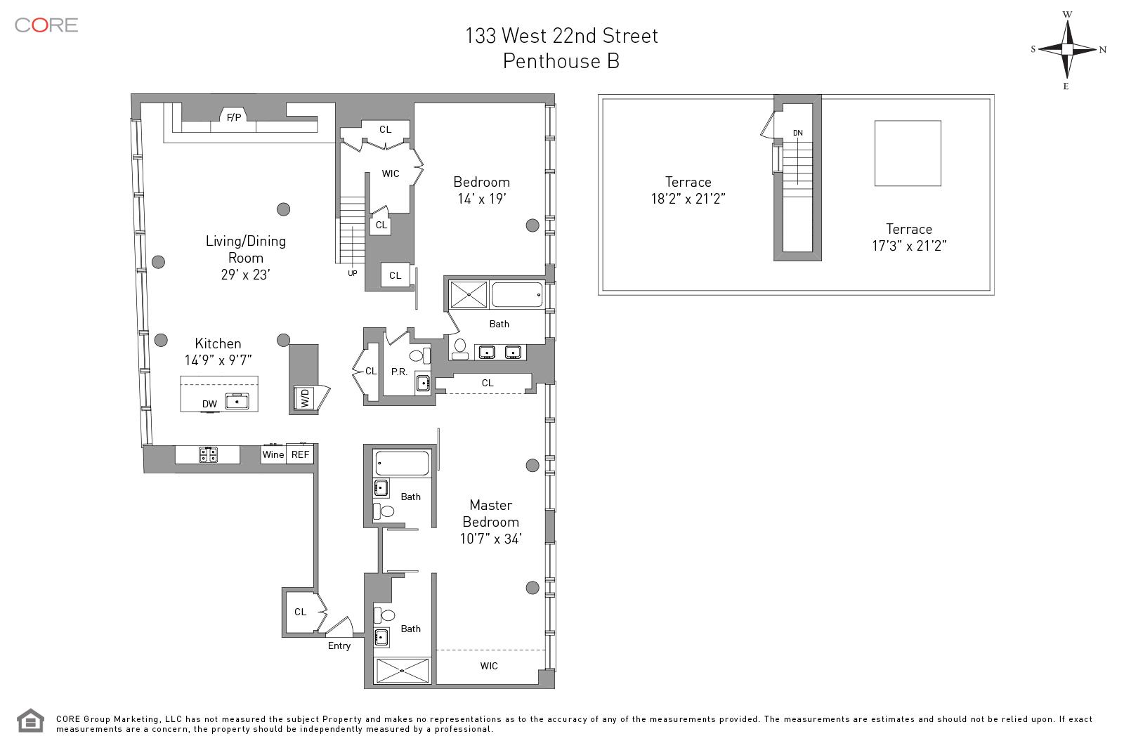 133 West 22nd St. PENTHOUSEB, New York, NY 10011