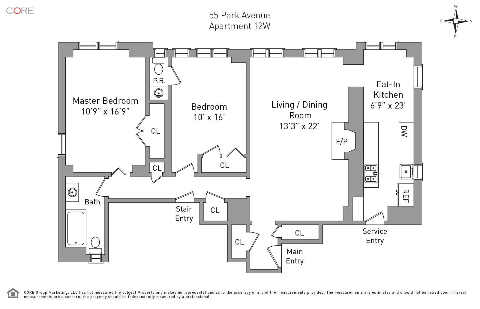 55 Park Ave. 12W, New York, NY 10016