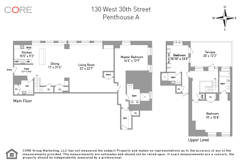130 West 30th St. PENTHOUSEA, New York, NY 10001
