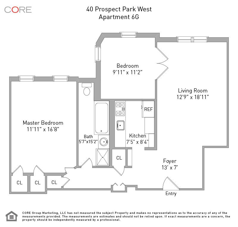 40 Prospect Park West 6G, Brooklyn, NY 11215