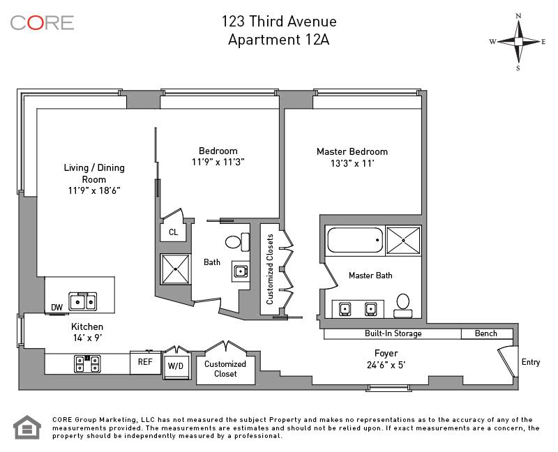 123 Third Ave. 12A, New York, NY 10003
