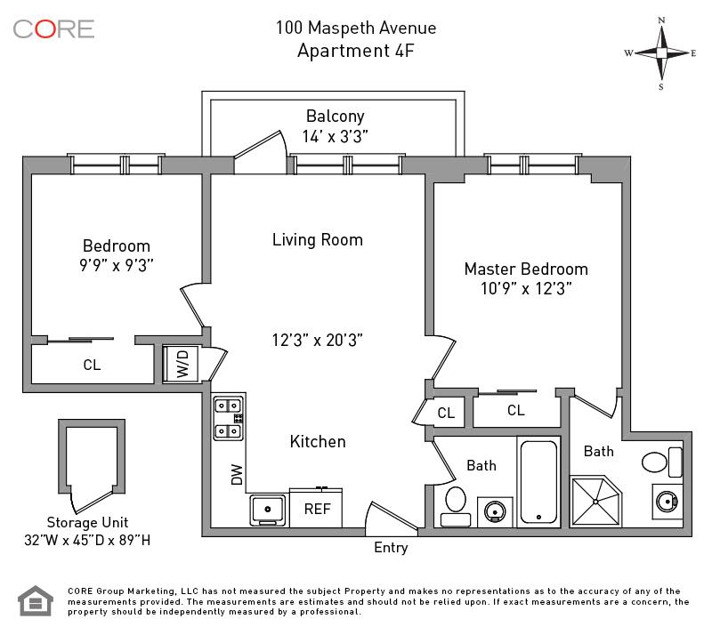 100 Maspeth Ave. 4F, Brooklyn, NY 11211