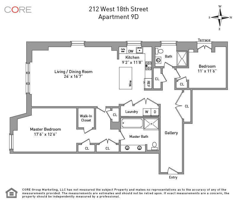 212 West 18th St. 9D, New York, NY 10011