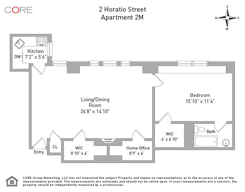 2 Horatio St. 2M, New York, NY 10014