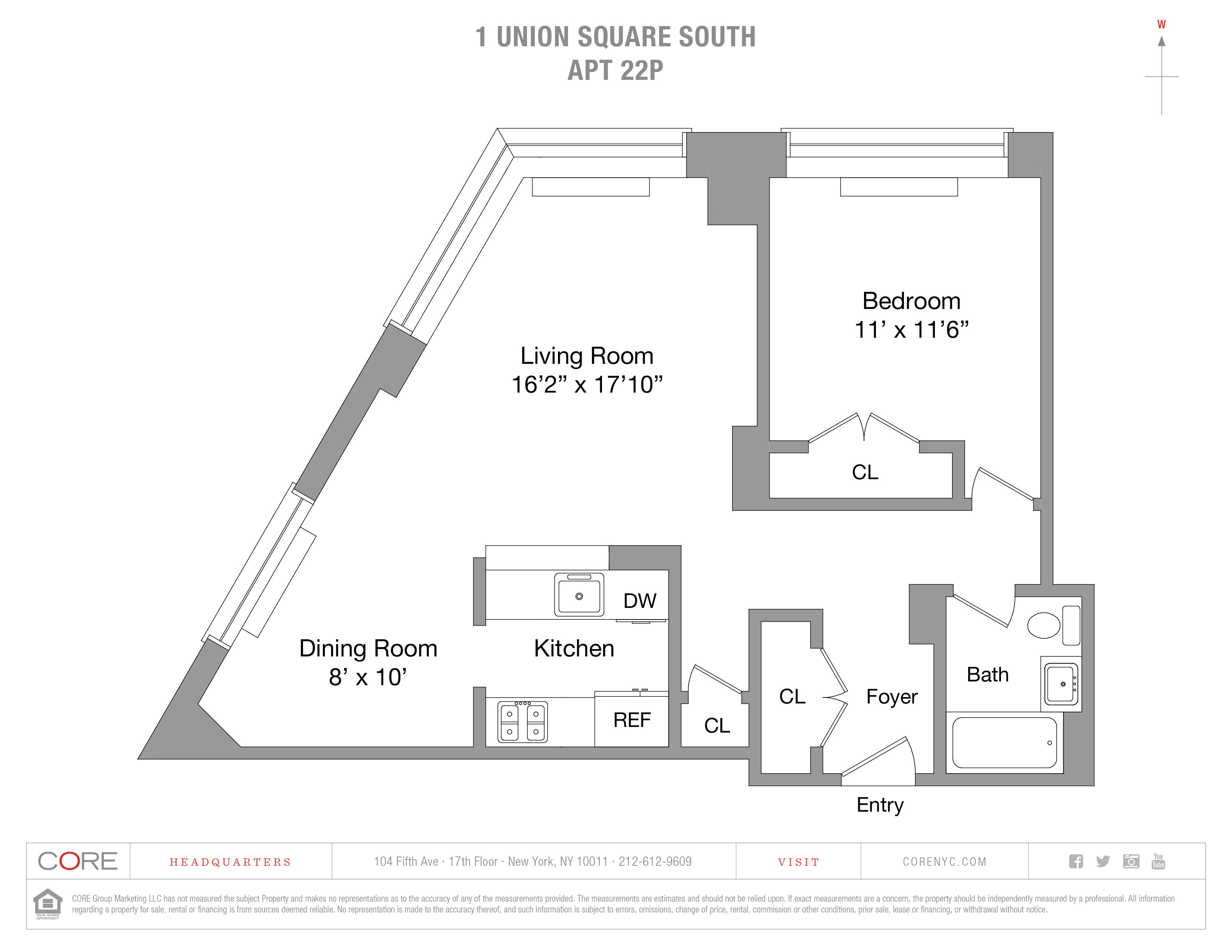 1 Union Sq. South 22P, New York, NY 10003