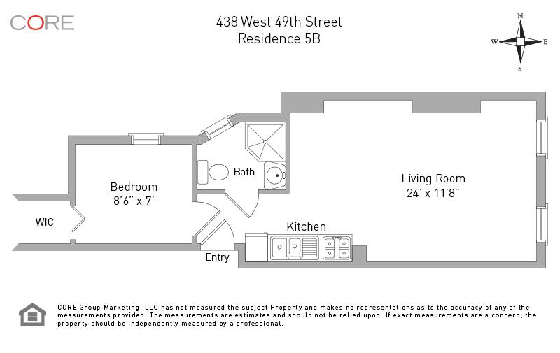 438 West 49th St. 5B, New York, NY 10019