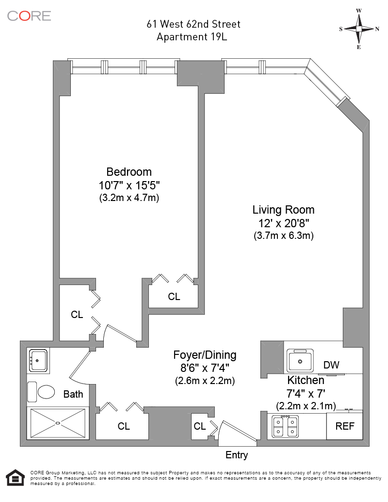 61 West 62nd St. 19L, New York, NY 10023