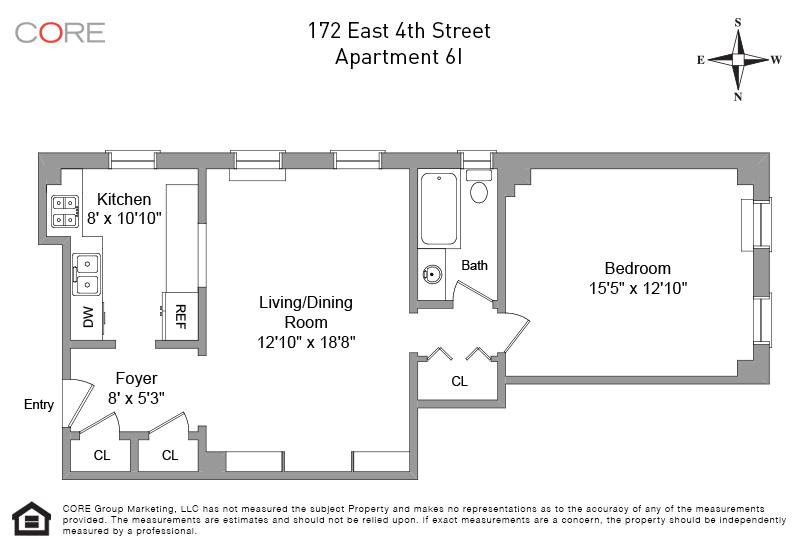 172 East 4th St. 6I, New York, NY 10009