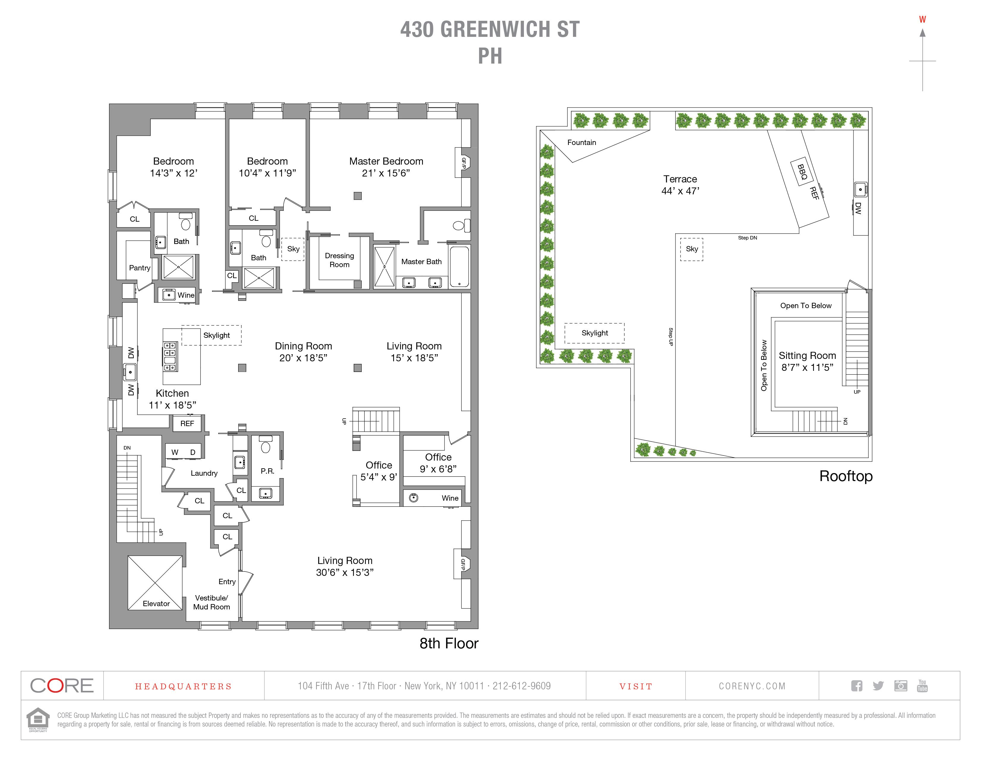 430 Greenwich St. PH, New York, NY 10013