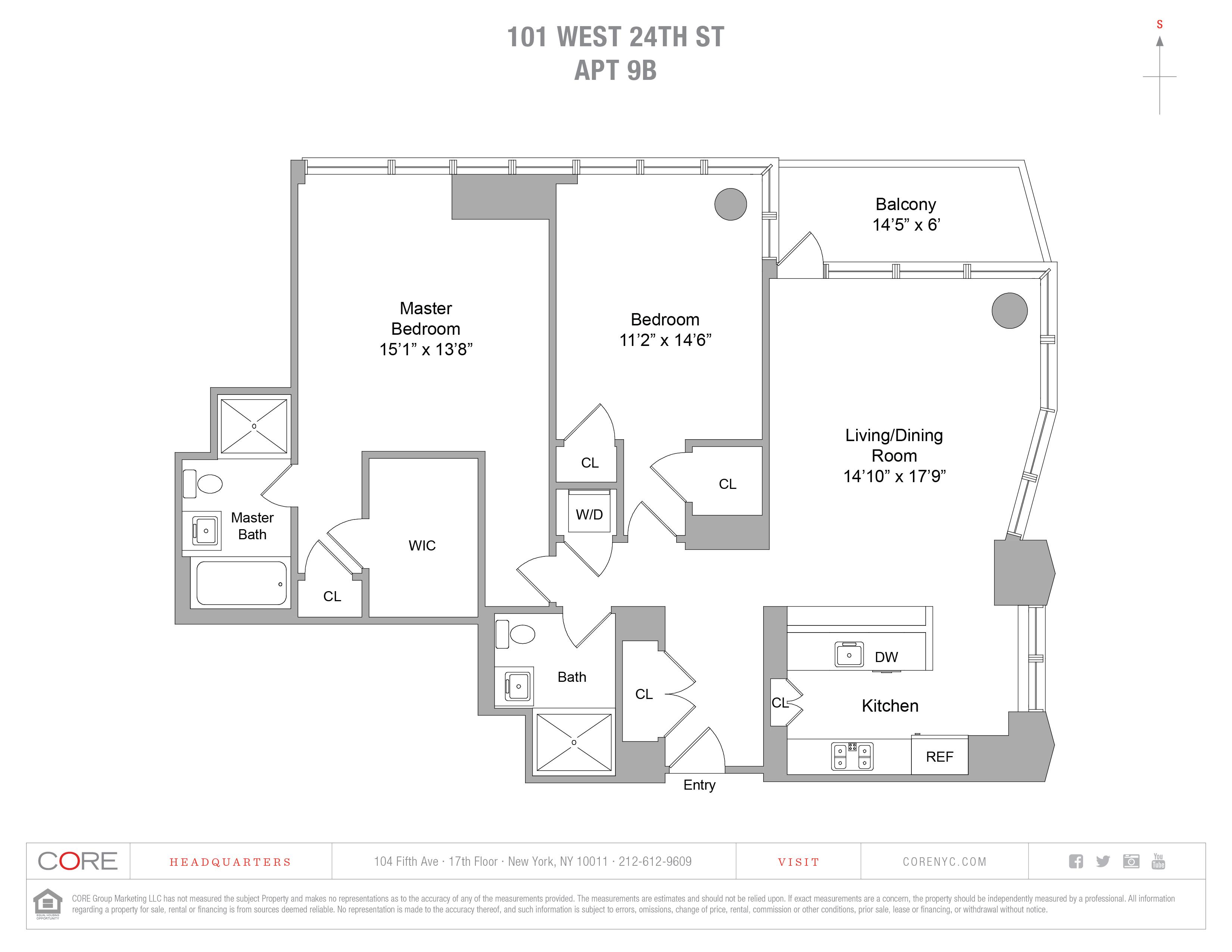 101 West 24th St. 9B, New York, NY 10010