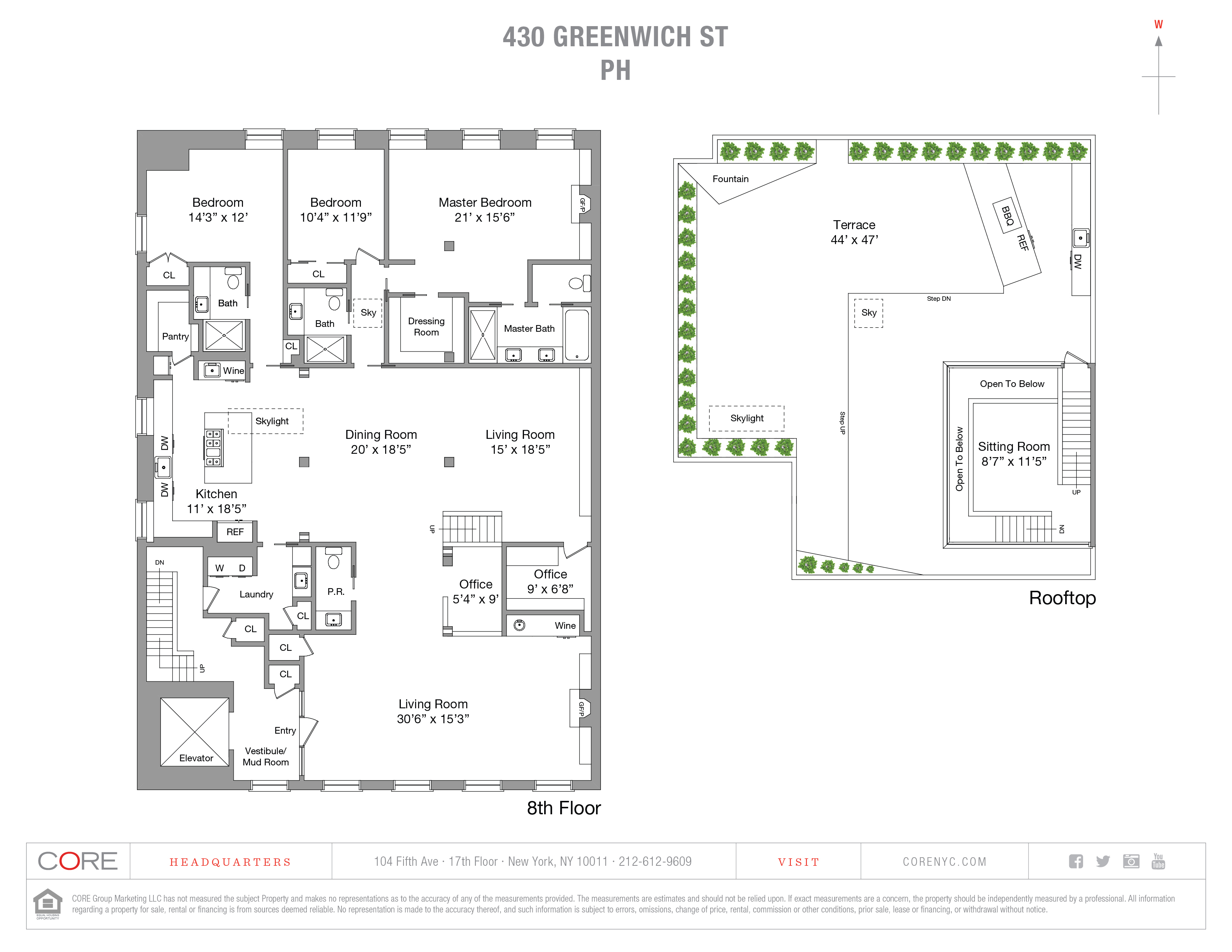 430 Greenwich St. PENTHOUSE, New York, NY 10013