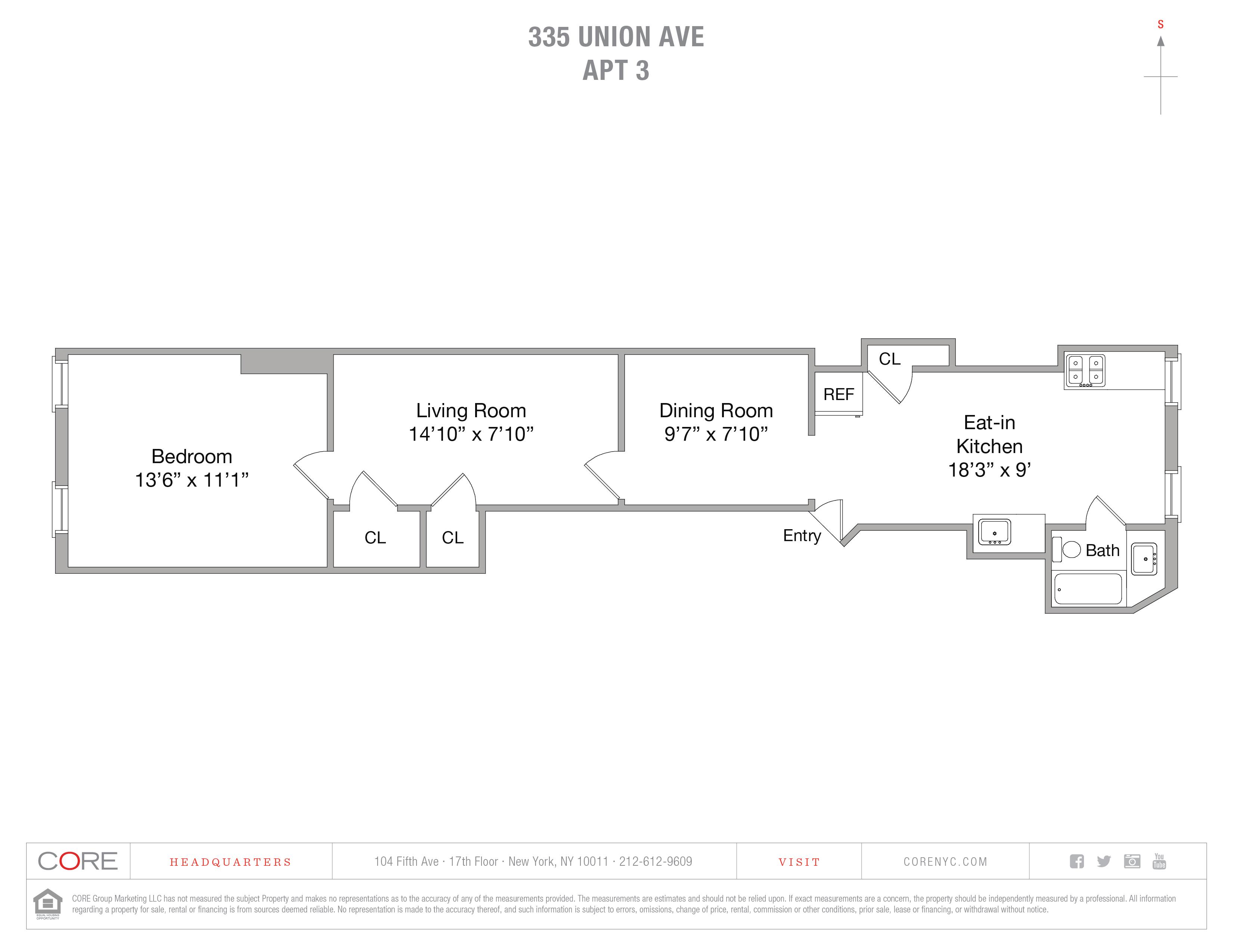 335 Union Ave. 3, Brooklyn, NY 11211