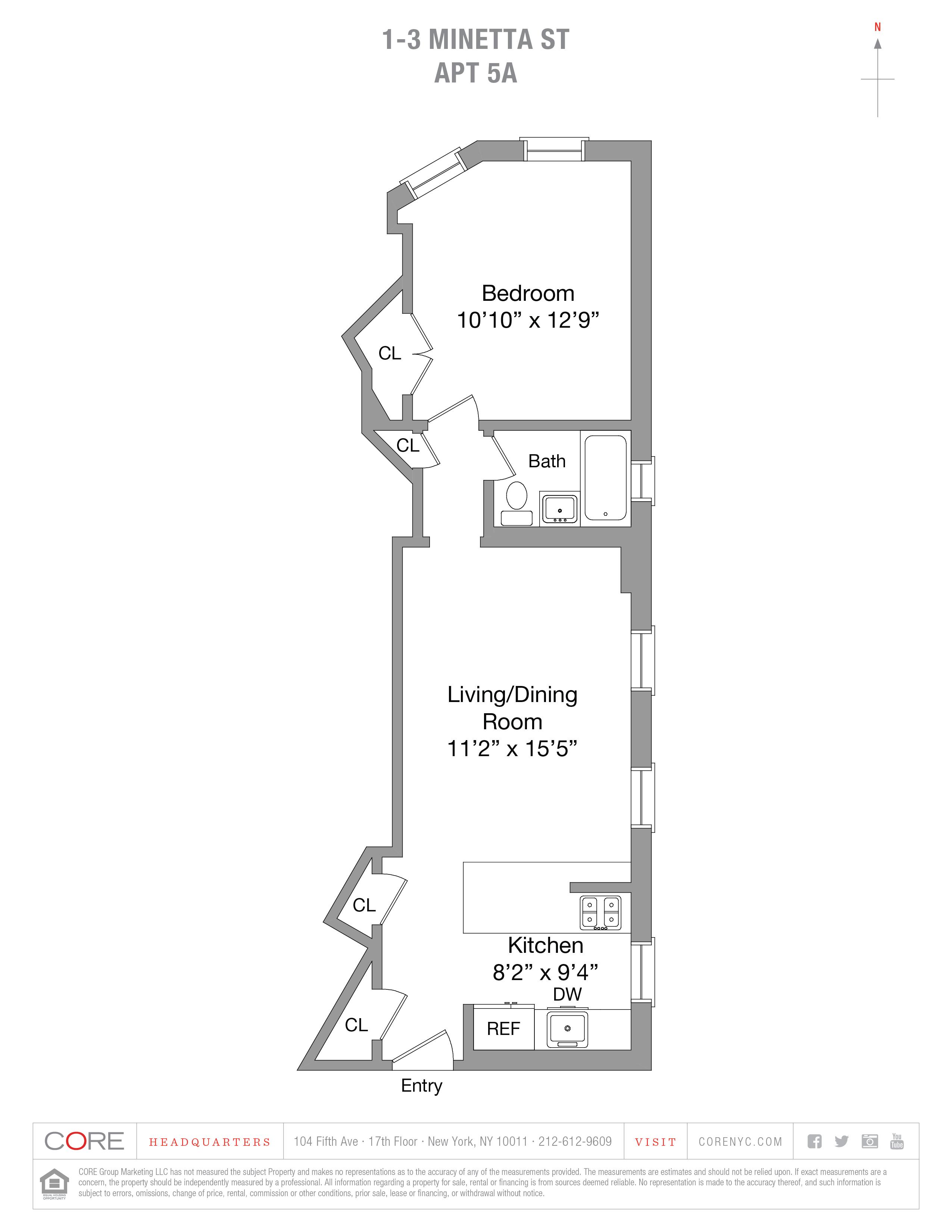 1-3 Minetta St. 5A, New York, NY 10012