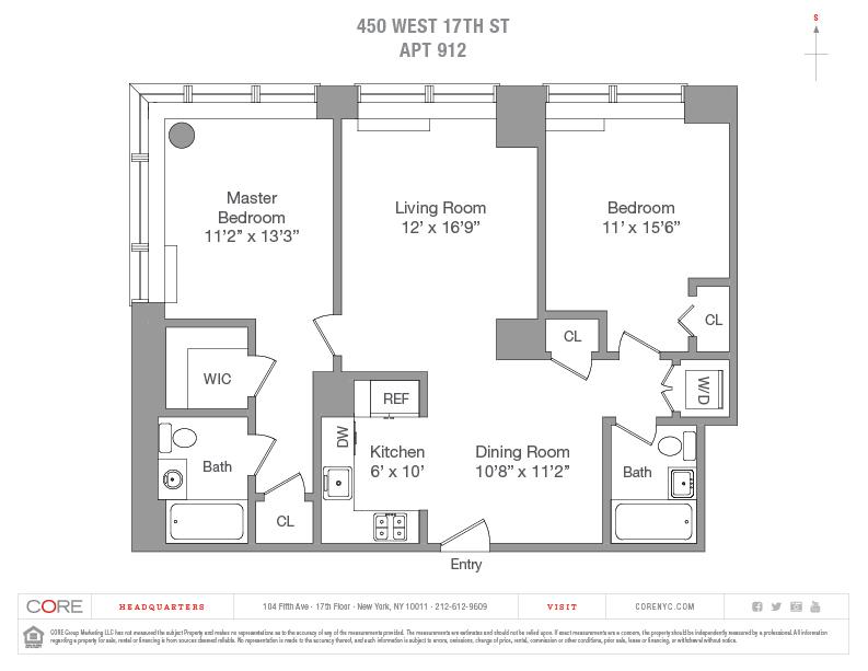 450 West 17th St. 912, New York, NY 10011