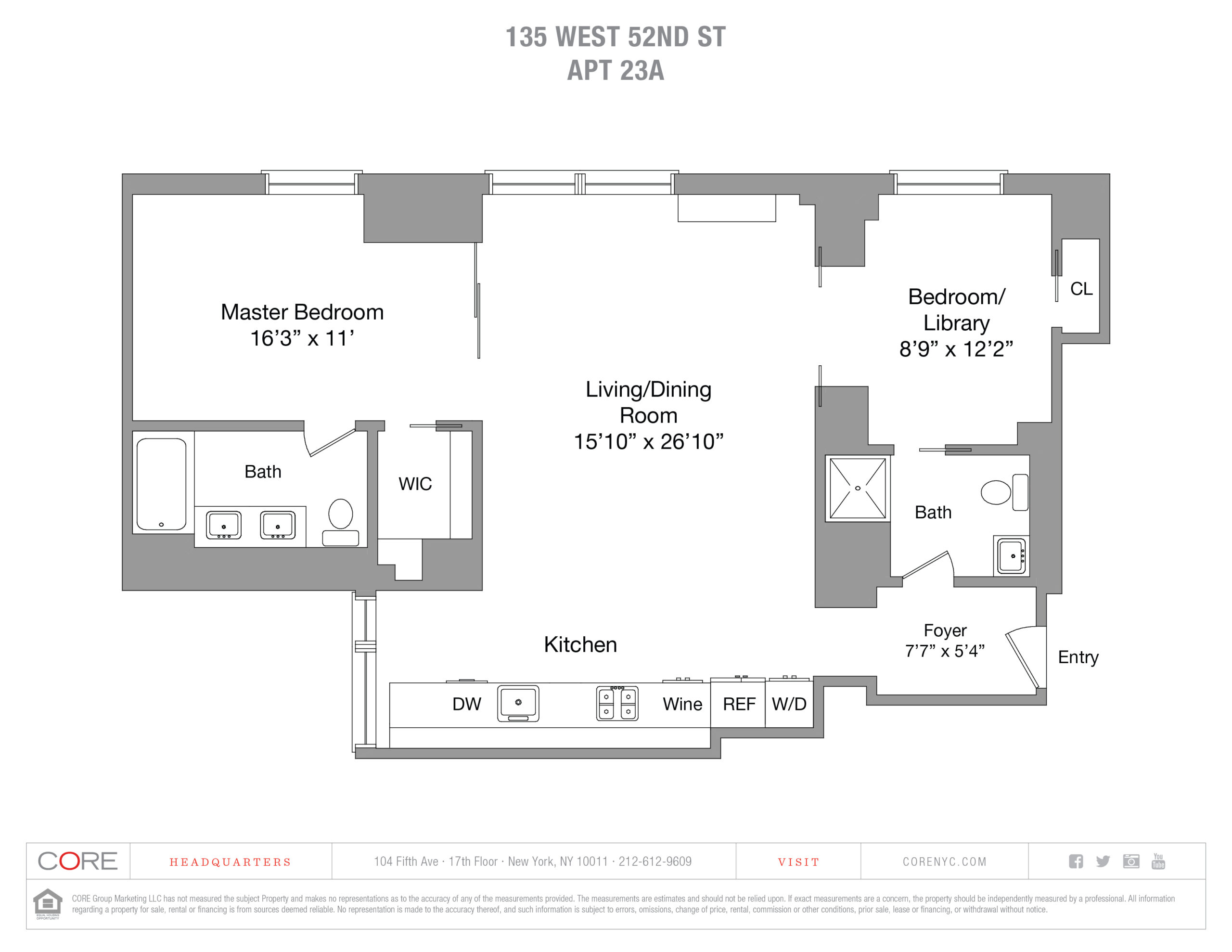 135 West 52nd St. 23A, New York, NY 10019